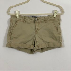 Aeropostale Midi Khaki Shorts Size 4
